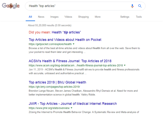Health Top Article