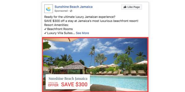 Facebook Travel Ads Eye-Catching